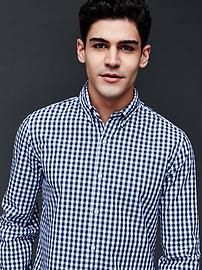 True wash gingham slim fit shirt