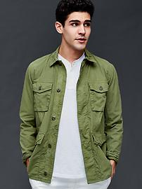 Lightweight poplin fatigue jacket