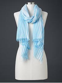 Sheer stripe scarf