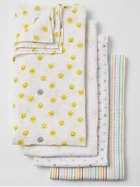 babyGap x aden + anais&#174 personaliTees swaddle blanket (4-pack)