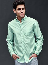 True wash micro stripe standard fit shirt