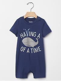 Whale time shortie one-piece