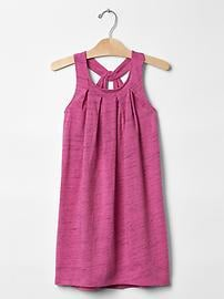 Space dye knot-back dress