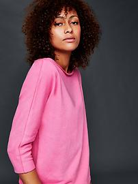 Open-neck sweatshirt