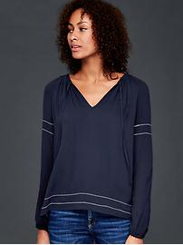 Soft shirred top