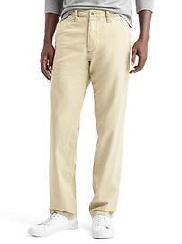 Vintage washed straight fit khakis