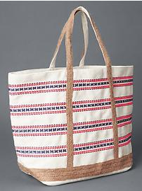Embroidered girlfriend tote