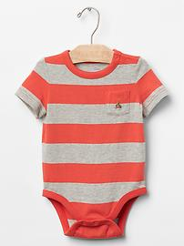 Short-sleeve stripe bodysuit