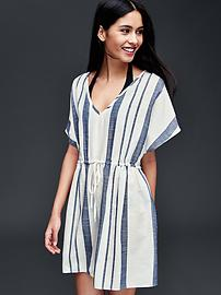 Cotton navy stripe cover up