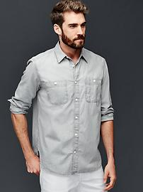 1969 icon worker grey chambray shirt