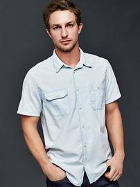 1969 denim icon worker short sleeve shirt