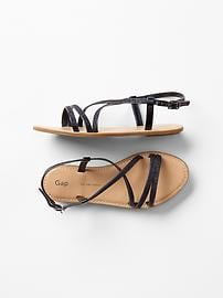 Glitter crisscross sandals