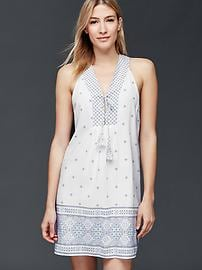 Sleeveless woven dress