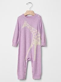 Giraffe sweater one-piece