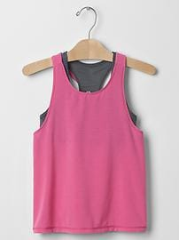 GapFit kids double-layer racerback tank