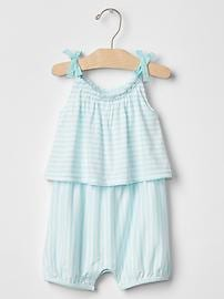 Stripe shortie one-piece