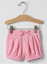 Marled bubble shorts