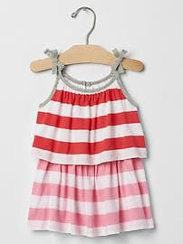 Stripe two-tier dress