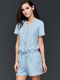 Tencel&#174 embroidered romper