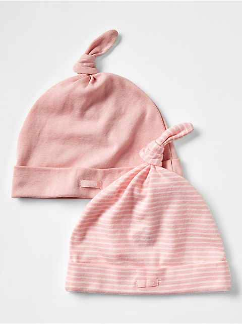 Favorite pink knot hat (2-pack)