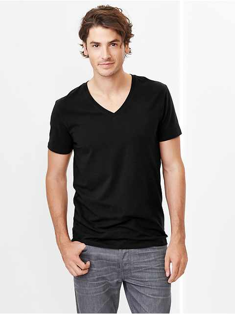 Stretch V-neck T