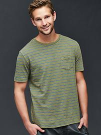 Slub feeder stripe t-shirt