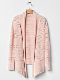 Pointelle open cardigan