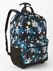 Astronaut roller backpack