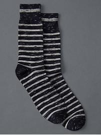 Nep stripe crew socks