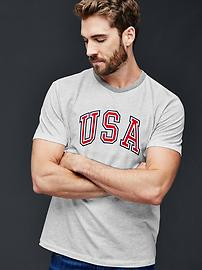 Summer sports USA graphic tee