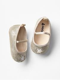 Golden star ballet flats