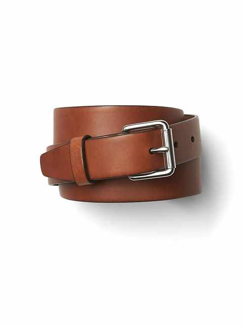 Roller buckle chino belt