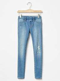 1969 destructed superdenim high stretch jeggings