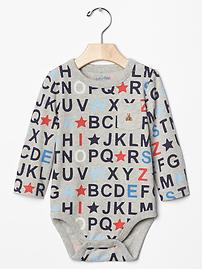 Alphabet pocket bodysuit
