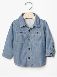 1969 chambray lined shirt