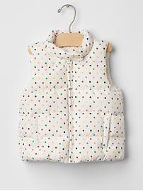 ColdControl Max sprinkle dots puffer vest