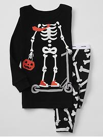 Halloween skeleton sleep set