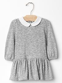 Collared marl dress