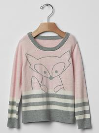 Intarsia fox sweater