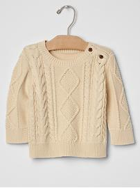 Aran cable knit sweater