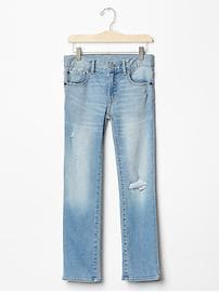 1969 destructed straight jeans
