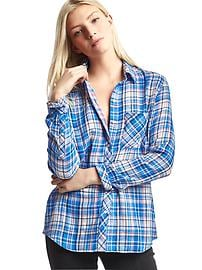 Double-layer plaid shirt