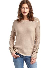 Chunky pointelle sweater
