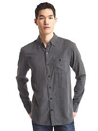 Flannel heathered shirt