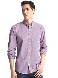 True wash mini checkered standard fit shirt