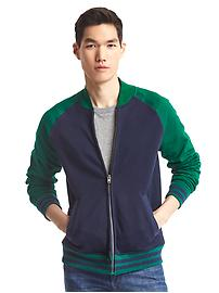 Colorblock bomber jacket
