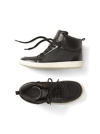 Perforated hi-top sneakers