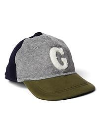 Colorblock terry baseball hat