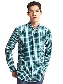 True wash classic plaid standard fit shirt