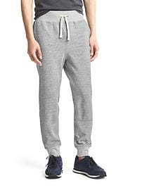 Marled fleece sweats